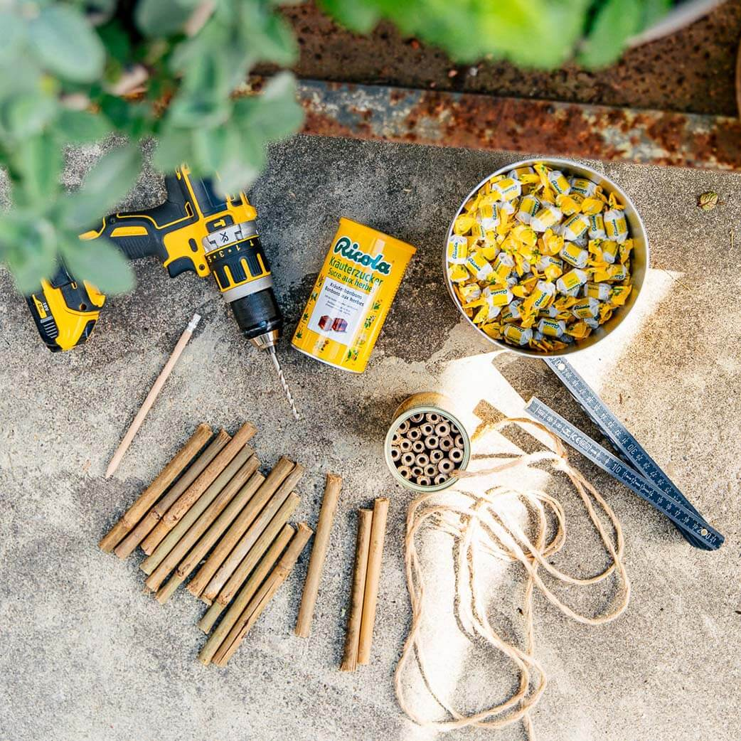 Ricola Bee Hotel How-To - Step  1