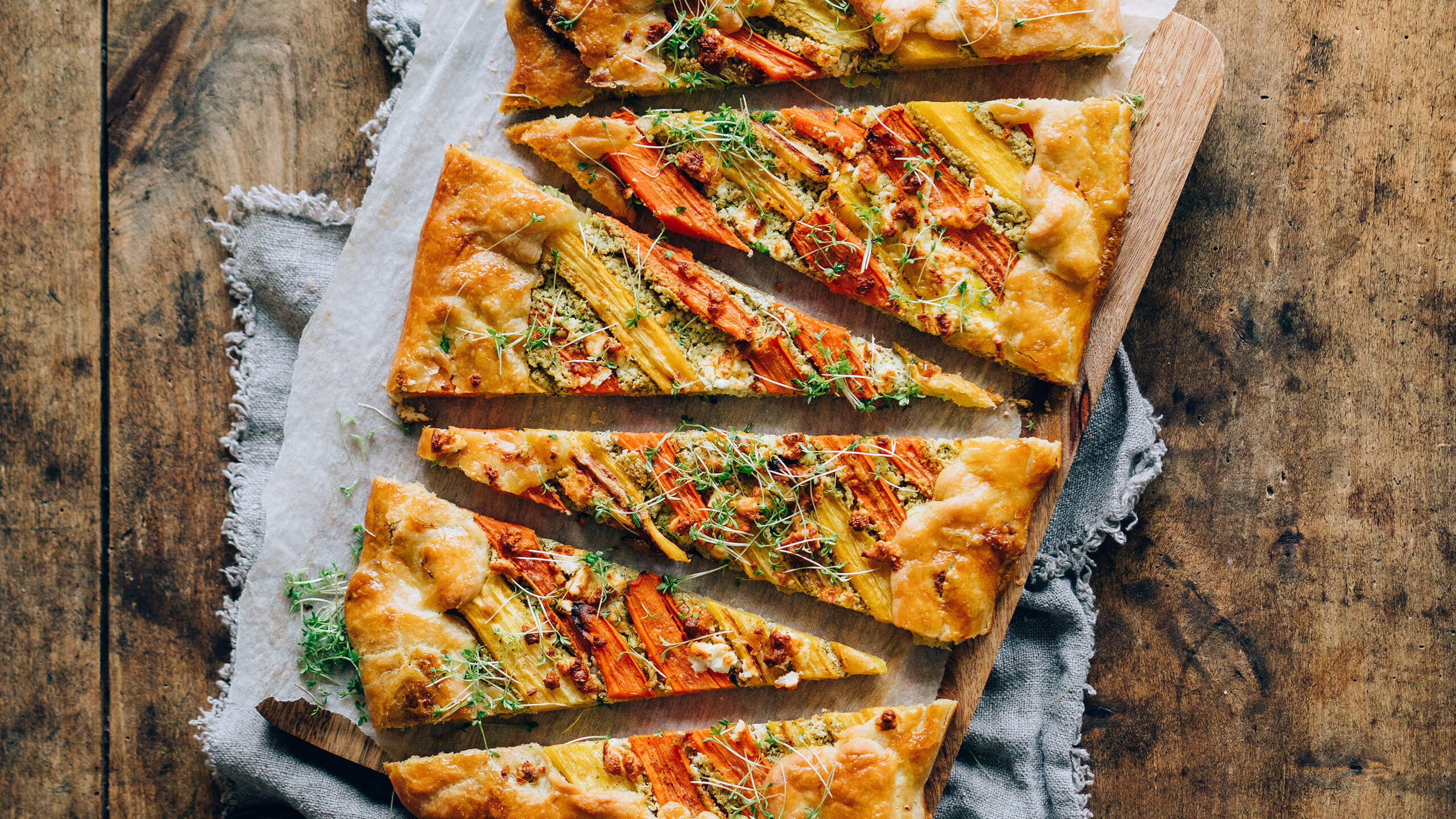 Carrot Tart with Herb-Feta-Cream