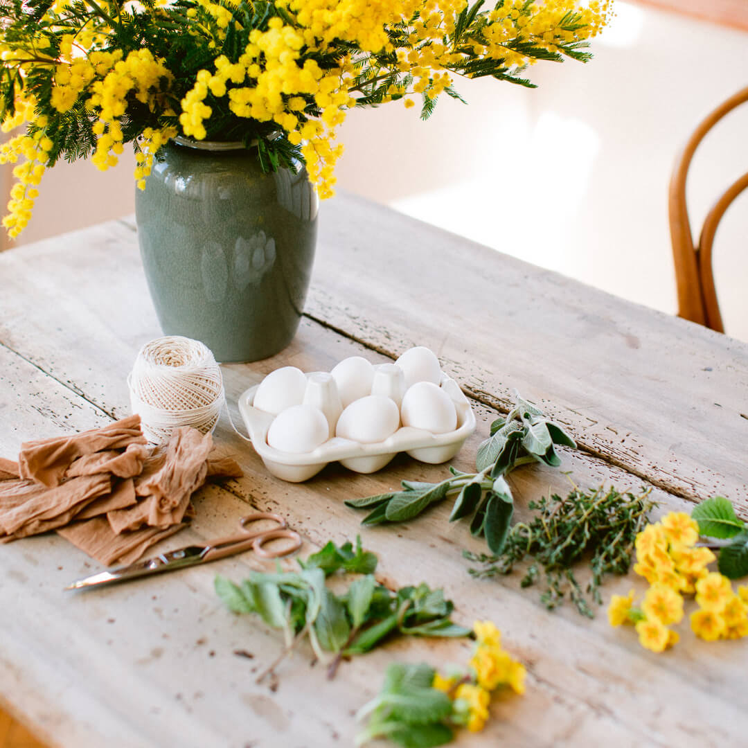Ricola Dyeing eggs with herbs How-To - Step  1