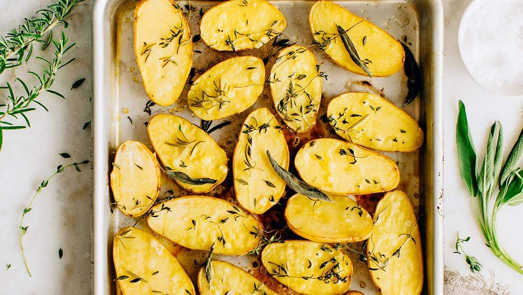 Grilled Potato with Herbs