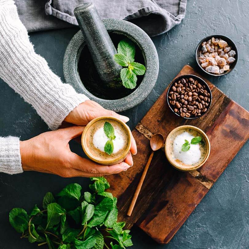 Ricola Pfefferminze Kaffee Latte Rezept - Step  4
