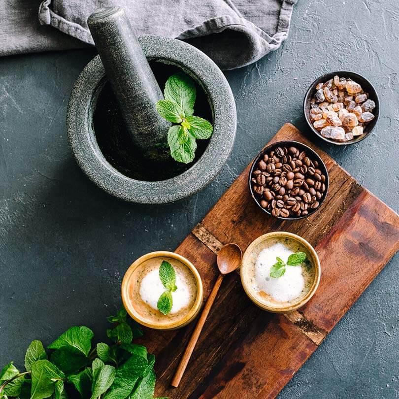 Ricola Pfefferminze Kaffee Latte Rezept - Step  5
