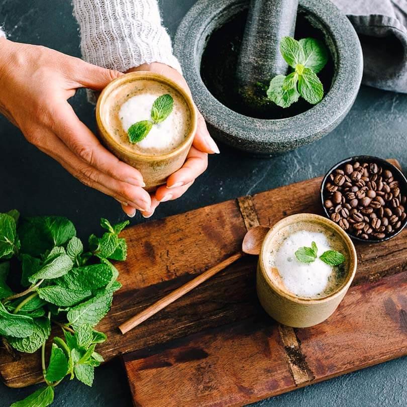 Ricola Pfefferminze Kaffee Latte Rezept - Step  6