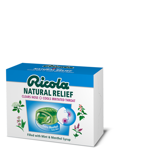 Ricola Natural Relief Extra Menthol Swiss Mint